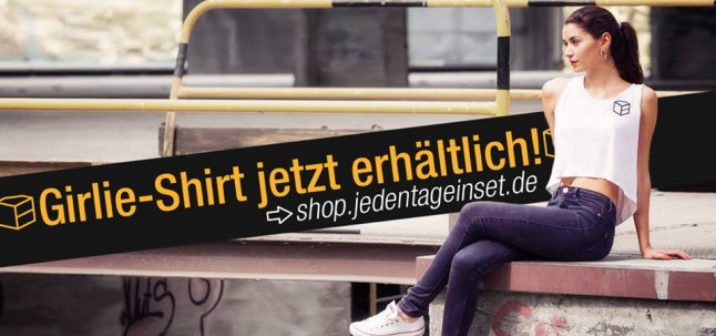 jedentageinset shirt jetzt erhältlich